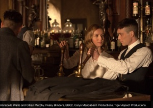 Tommy Shelby and Grace Burgess in Peaky Blinders Series 1