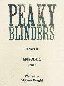 Peaky Blinders Series 3 Script