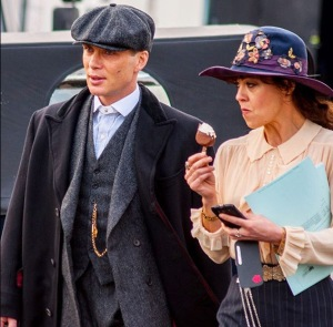Cillian Murphy and Helen McCrory Filming Series 2.