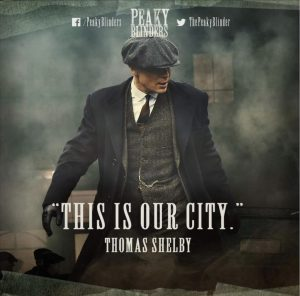 Cillian Murphy as Tommy Shelby in Peaky Blinders, Series 3