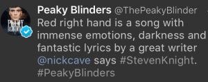Steven Knight Tweet