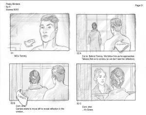 <I>Peaky Blinders</I>, Series 3 Storyboards (Source: Rachel Garlick's Website)